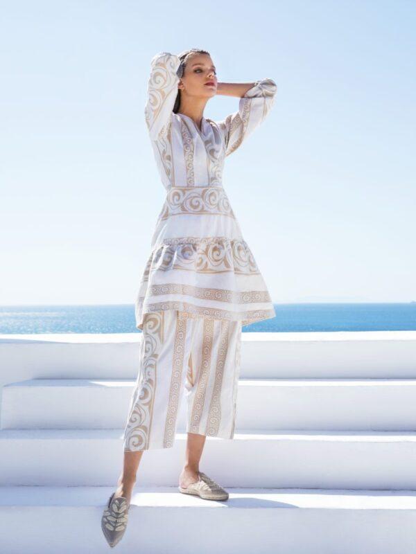 Φόρεμα υφαντό κρουαζέ (436)