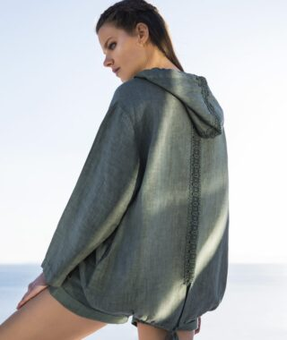 Linen jacket with lace (8128)