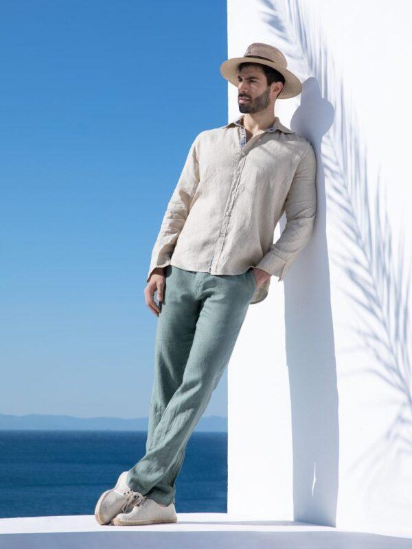 Παντελόνι λινό με λάστιχο (4092)