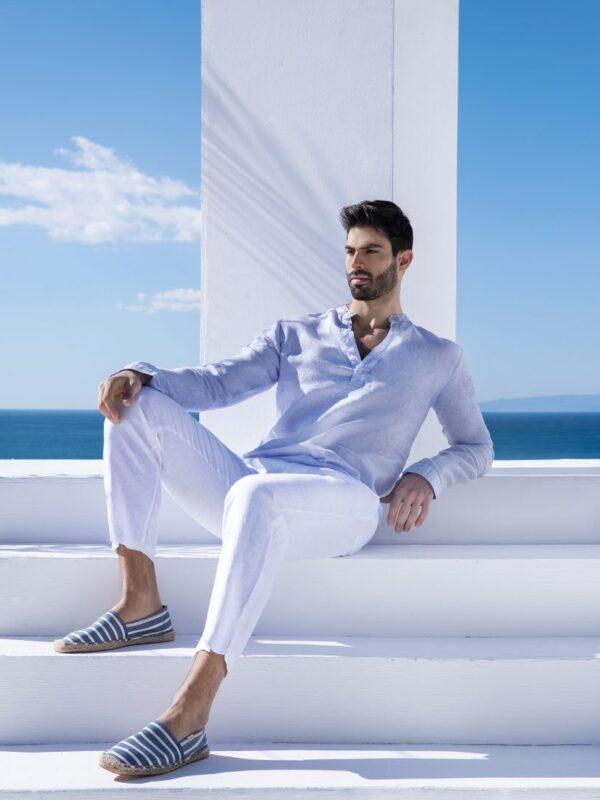 Linen mao shirt (4223Α)