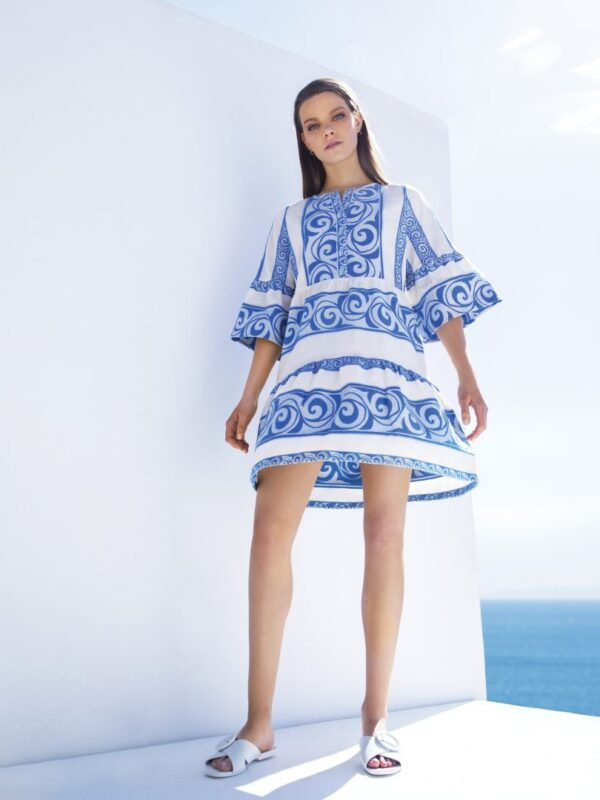 Embroidered ruffle dress (437)