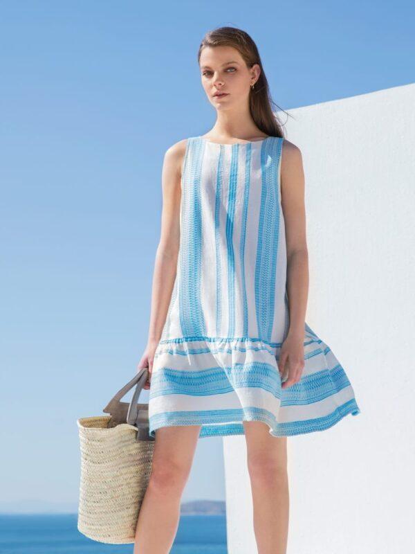 Embroidered sleeveless dress (635)