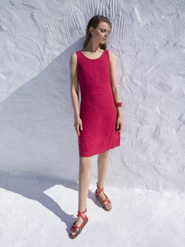 Φόρεμα λινό χαμόγελο (834)