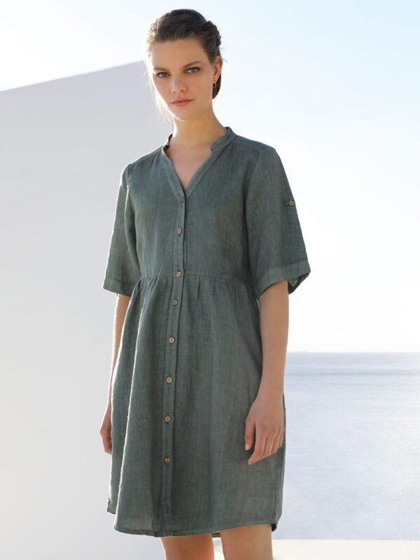 Linen shirt dress (884)