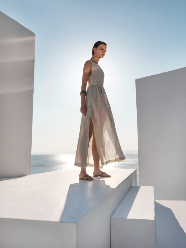 Linen-blend dress (240)