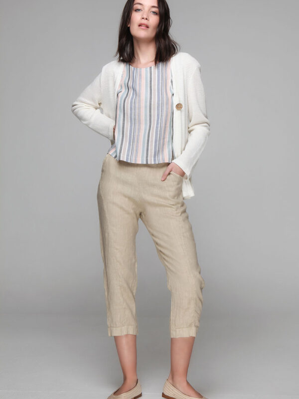 Linen capri pants (8111)