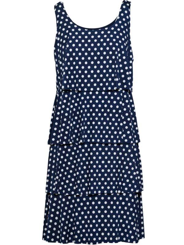 Φόρεμα πουά με βολάν (1467)