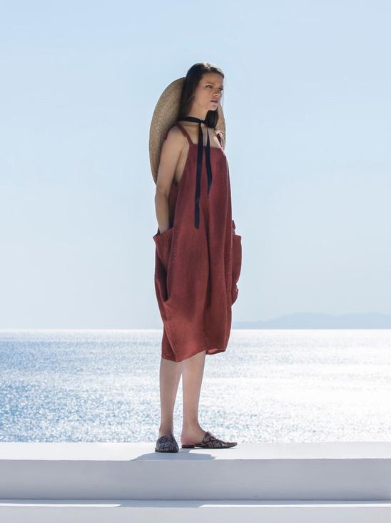 Linen dress (8171)