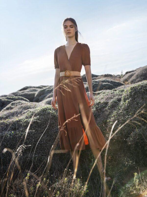 Φόρεμα με μανικάκι (FY45108)