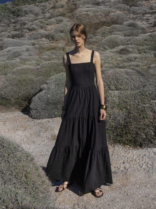 Φόρεμα broderie (FY24109)