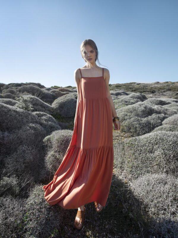 Φόρεμα με βολάν (FY28110)