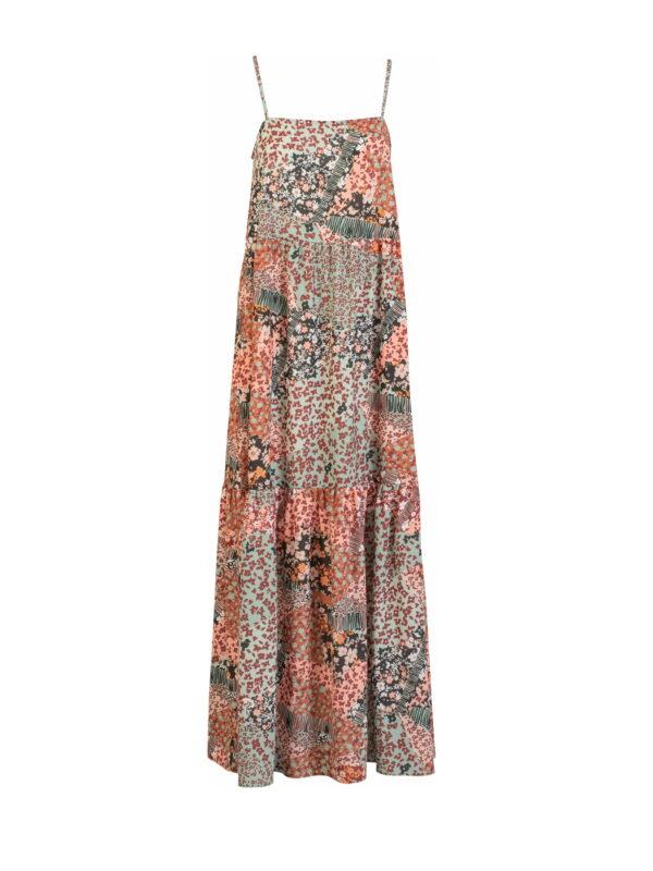 Φόρεμα εμπριμέ βολάν (FY31110)