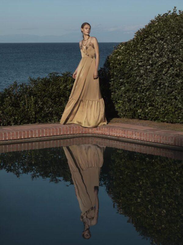 Φόρεμα κρουζέ με βολάν (FY3470A)