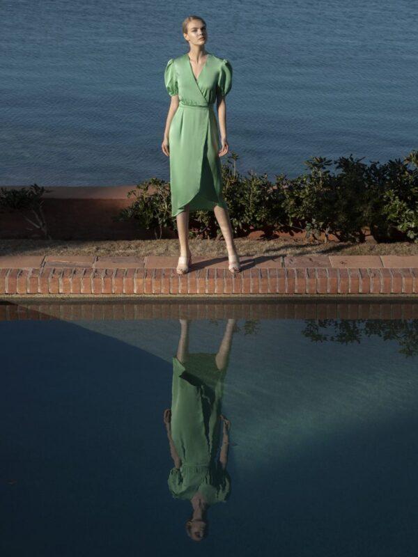 Φόρεμα σατέν κρουαζέ (FY3484S)