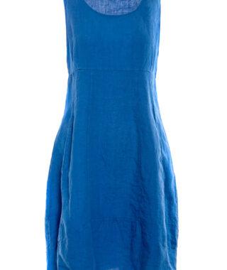 Linen sleeveless dress (8124)