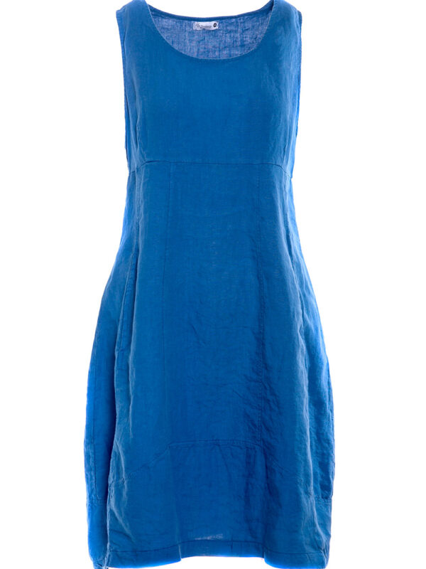 Linen sleeveless dress (8124)