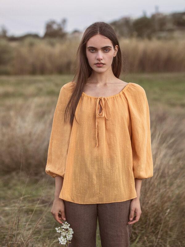 Linen-blend top (233)