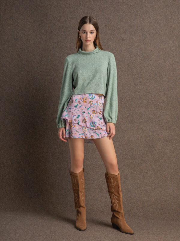 Caroline satin skirt